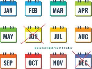 betalningsfri månad